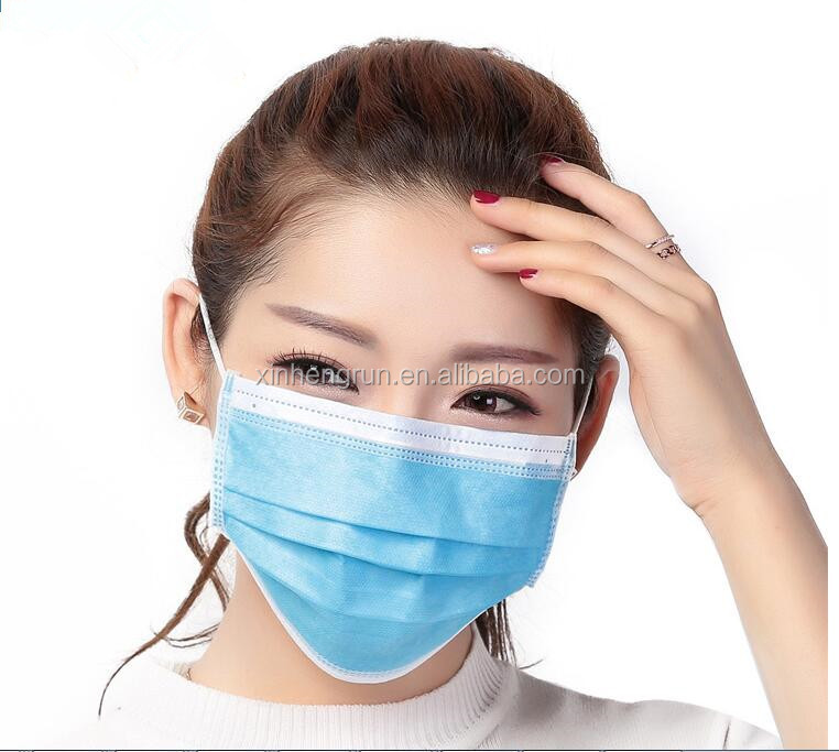 Medical Consumable Non Woven 3 Ply Surgical Disposable Face Mask with tie on