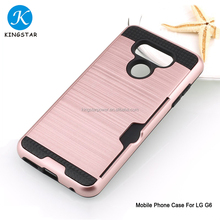 Bulk Colorful Mobile Cell Phone Case With Card Slots For LG G6 Case