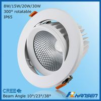 C REE COB High quality LED Downlight anti-glare 5.5inch 15w Dimmable cob led downlight
