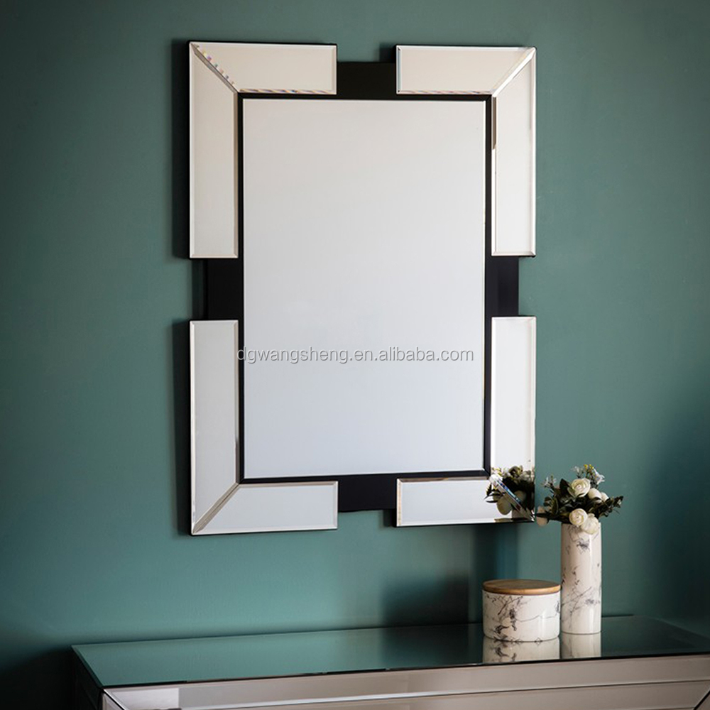 Bevelled venetian mirror with 4 mirror frame