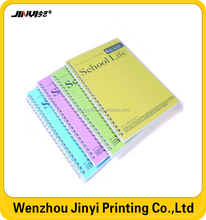 wholesale clear pvc cover school notebook
