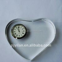 good decorative small digital heart shape crystal clocks