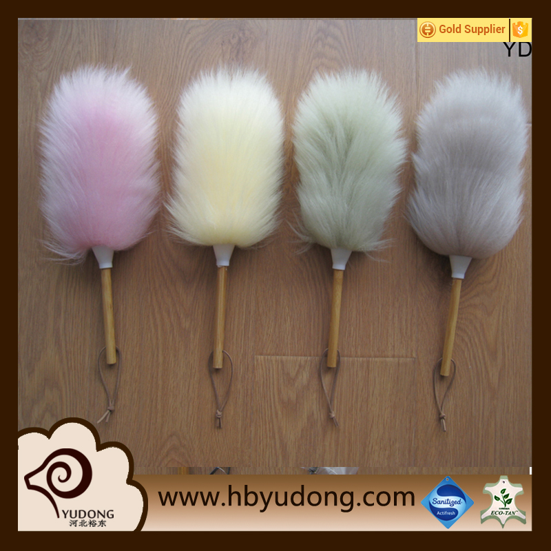 Household and Car Cleaning Natural Sheepskin Long Wool Duster