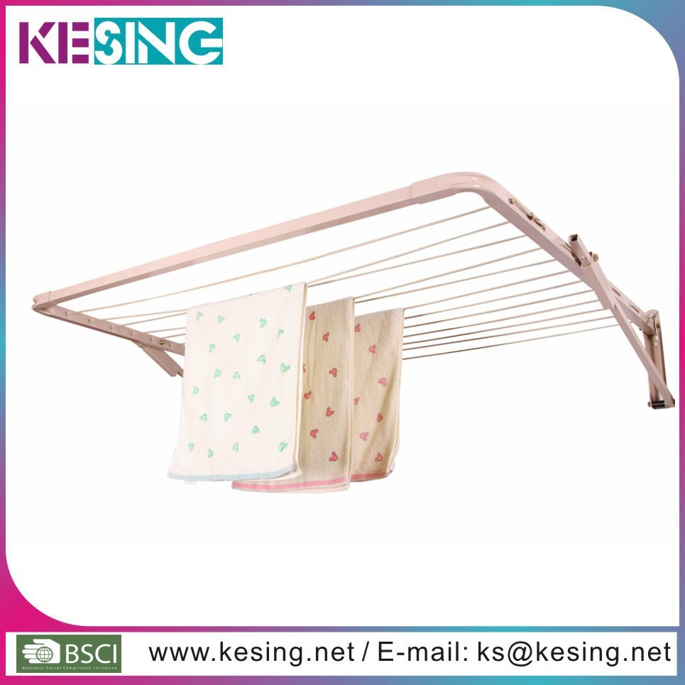 Outdoor use Foldable Galvanized Steel Wall mount laundry drying rack