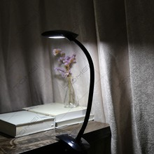 Wholesale High Quality 6w Flexible Desk Lamp Bed Reading Light Clip