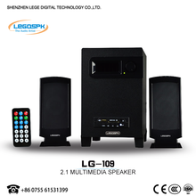 Mini surounding 2.1 speaker with multimedia bluetooth USB SD FM REMOTE with home theater speaker for computer