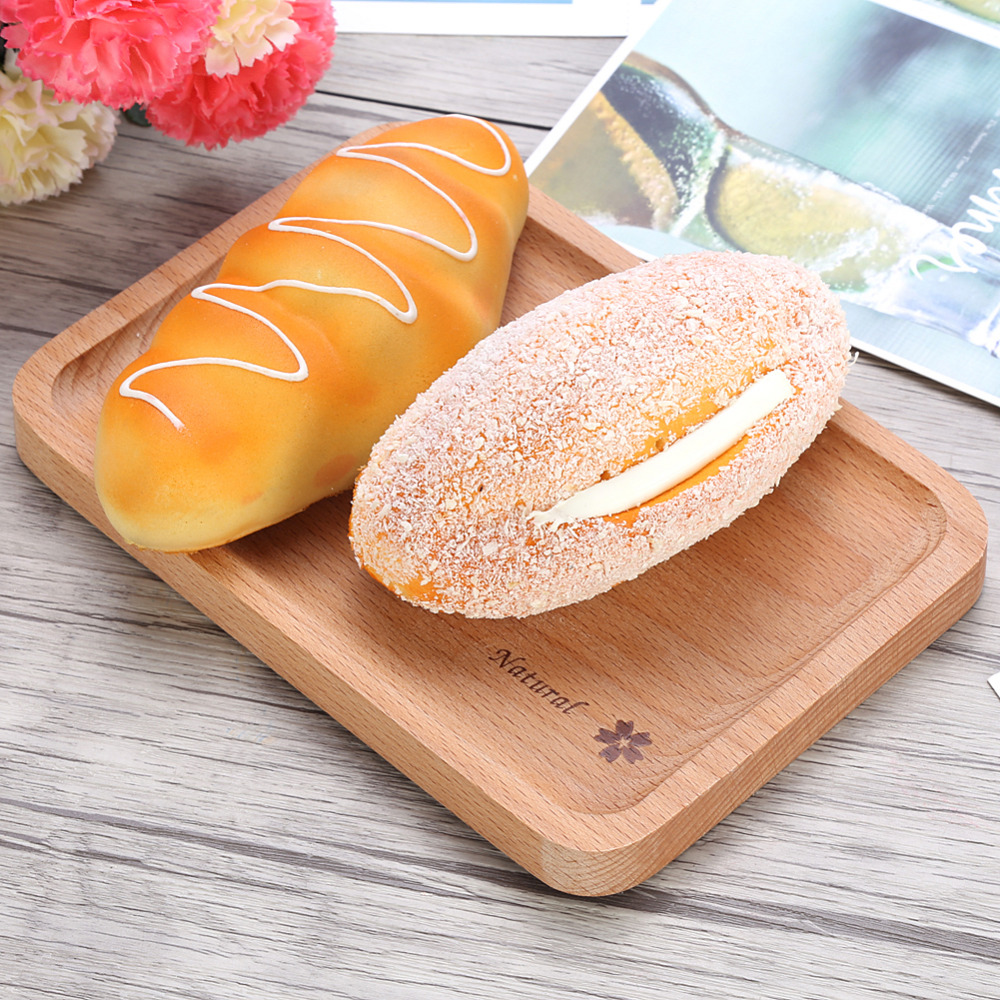 Natural Wooden Plate Food Snack Tea Dessert Serving Tray Photograph Decoration