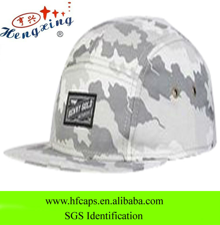 Promtional camo customize 5 panels fashion military style hat