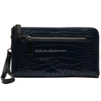 S5029-B3205 Newly design admiringly Noble crocodile pattern wallets leather clutch bag for business lady