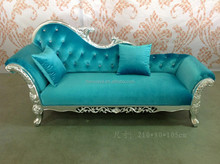 European style chaise lounge leather lounge