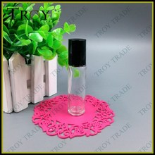 Empty Glass Perfume Roll on Roller Ball Glass Bottle with Black Cap