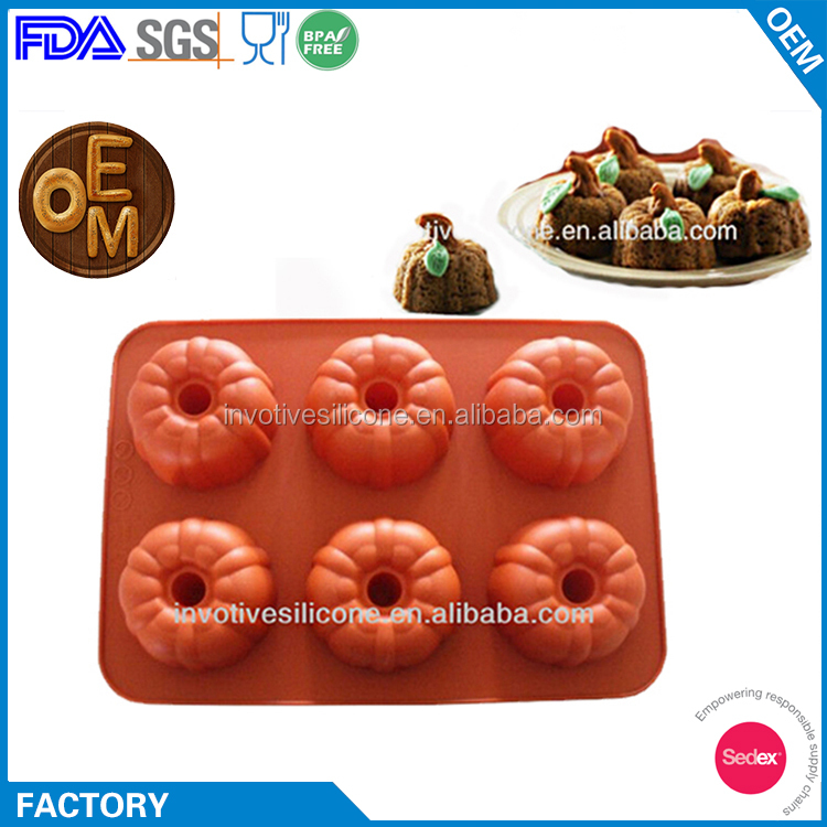 Sedex Factory Audit 100% Food Grade Silicone Pumpkin Shaped Mould