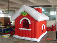 2014 high quality giant outdoor inflatable christmas snow igloo