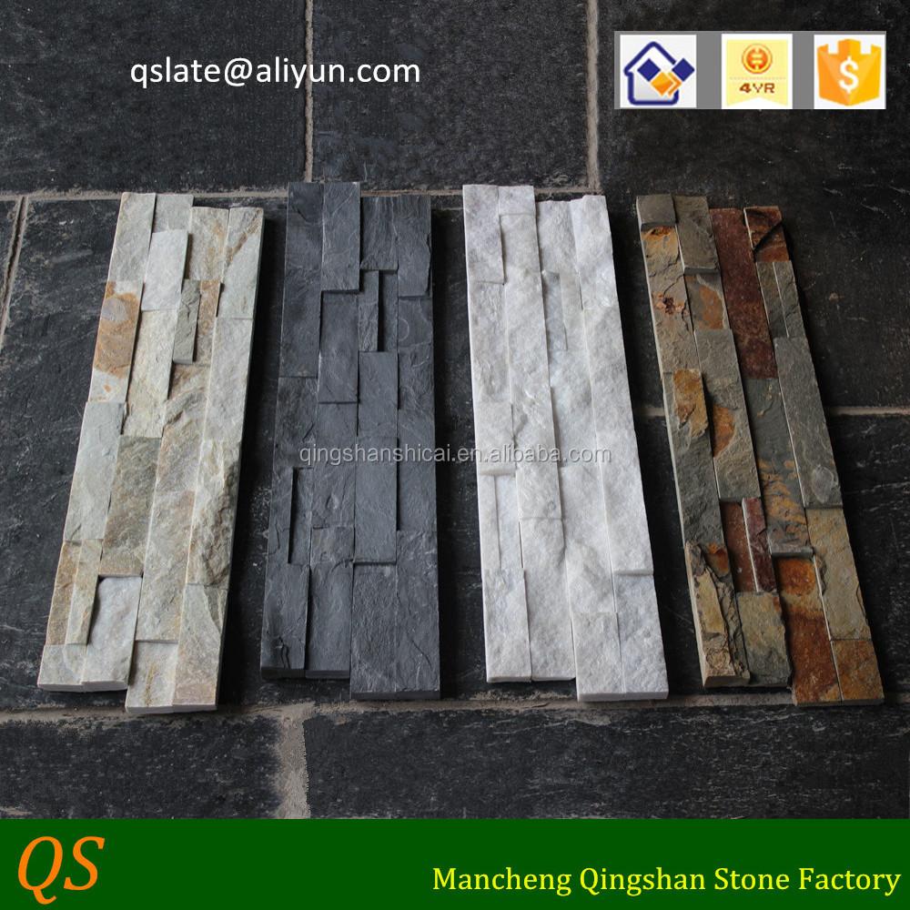 Interior de la pared exterior decorativo piedra pizarra - Revestimiento en piedra para exterior ...