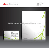 Letterhead and Business card printing with customised design from India