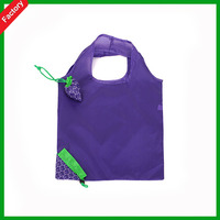 New style good recycle polyester folding shopping polyester nylon strawberry bag