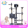 Pet decorative wood large cat tree for sale in 2015
