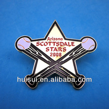 custom design die struck iron soft enamel badge provider