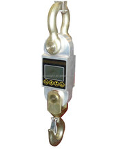 battery hanging pulling aluminium waterproof 1 2 3 5 ton LCD displayer force metal meter scale with shackle and hook dynamometer