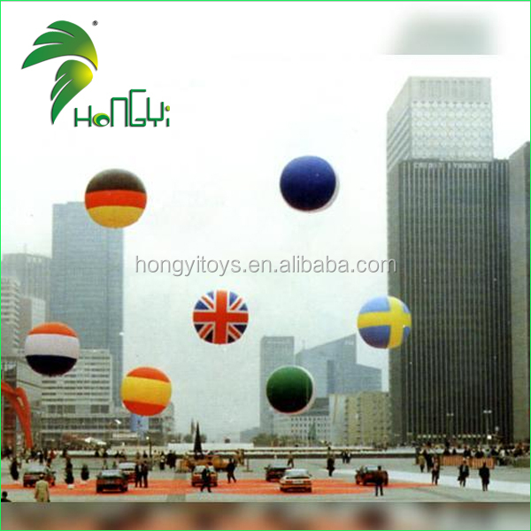 Event custom advertising inflatable national country flag balloons