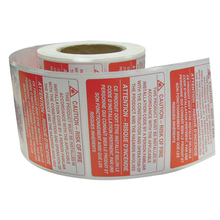 Packaging Shipping Warning Sticker Business Stickers Waterproof For Carton