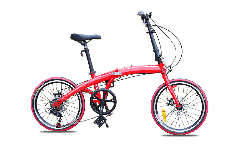 Wholesale 20-inch colorful folding mountain bike V brake portable road bike for men and women made in china factory