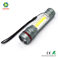 3W COB+3W LED flashlight AL bright extendable zoom focus hunting sale ship search light search and rescue equipment