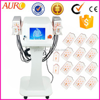 Top selling lipolaser Cold Laser promote the fatness dissolving slimming equipment from Guangzhou factory au-64b