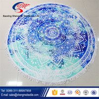 2016 China factory supply high quality round bath and beach towel