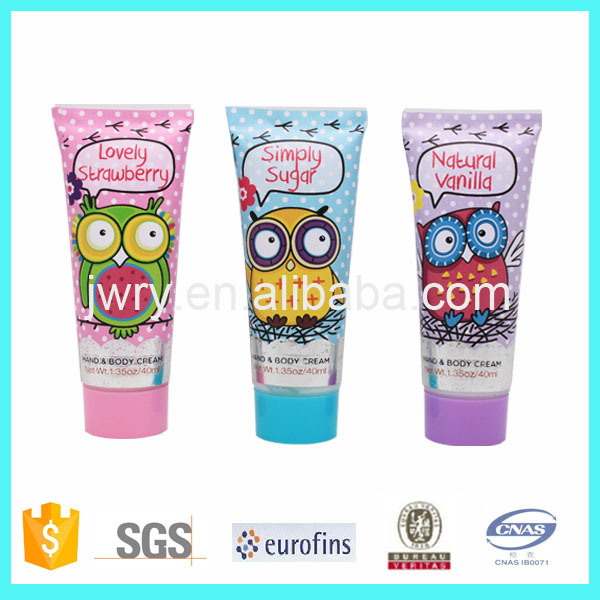 2015 Lovely bath gift set packaging tubes hand cream body lotion