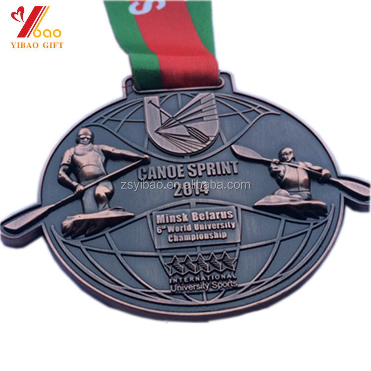 Wholesale cheap custom logo 2D 3D exquisite metal sports award medals