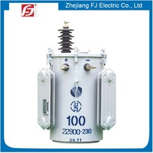 Pole Mounted Oil Type 110kva power distribution transformer