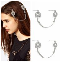 Cheap Wholesale Metal Hair Jewelry Crystal Hair Pin Rhinestone Bridal Head Chain