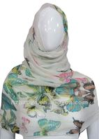 Fashion muslim Hijab Batterfly Printed Scarves Hot Hijab Fashion Islam Arab