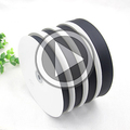 75mm Cheap custom satin 3 inch black grosgrain ribbon