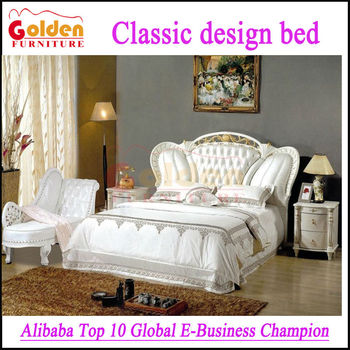 French Style White Bedroom Furniture Carved Solid Wood King Beds Buy Carved