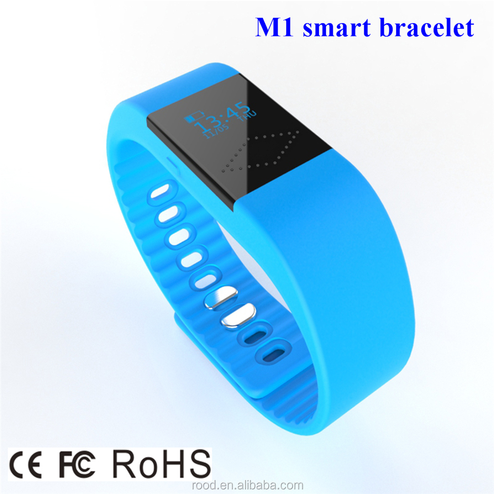 2016 newly design bluetooth fitness silicone smart bracelet 5 colors LED display sleep monitoring smart watch