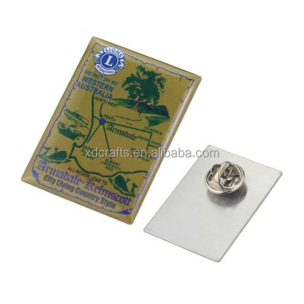 Promotional item arts and crafts printing logo epoxy metal badge maker