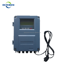 Teren Water Meter Flowmeter Ultrasonic Wall Mounted Flow Meter RS485 for Liquids DN50-DN6000mm Sensor Transducer