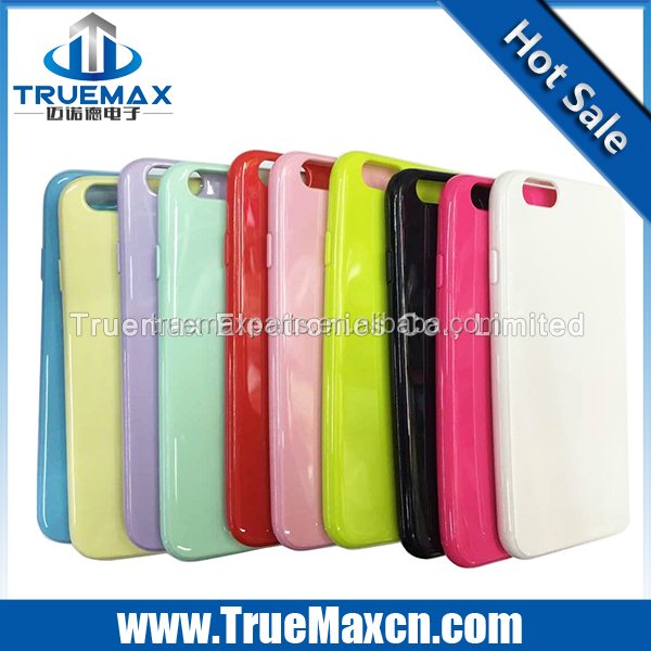 Hot sale Newest Candy color Smooth Tpu mobile phone case cover for iphone 6s