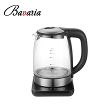 Cordless Glass Base BPA Free 1.7L Hot Water Tea Kettle Boiling Temperature Control Keep Warm Electric Glass Kettle