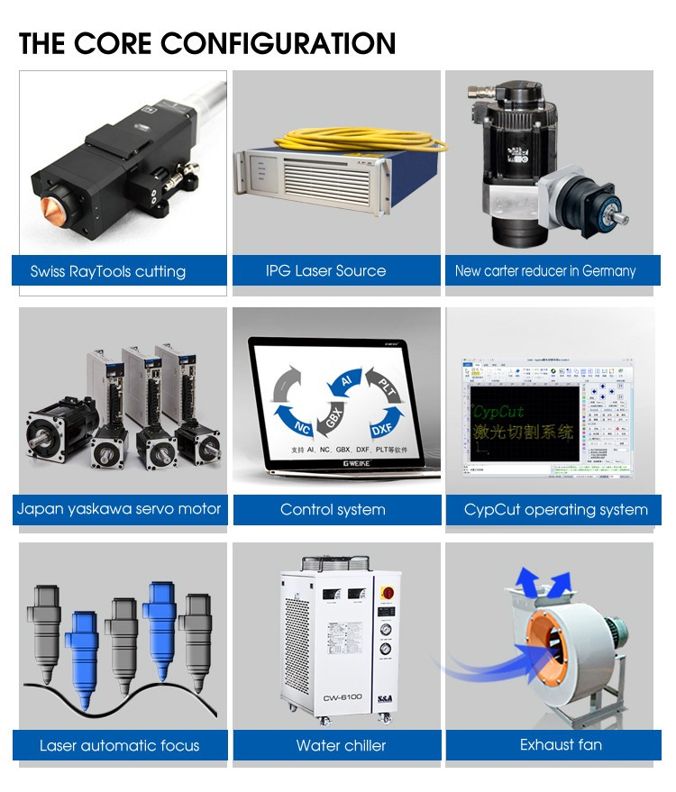 cnc metal pipe laser cutting machine price ipg laser cutter