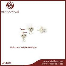 RenFook factory direct sale 925 sterling silver tiny clip pin peg pendant in silver plate