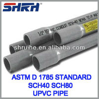 American standard upvc pipe specification for water supply
