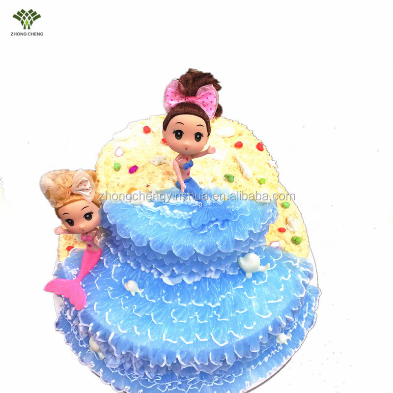 Mermaid Cake Topper Mermaid Doll Cake Picks Plastic Birthday Wedding Cake Decoration