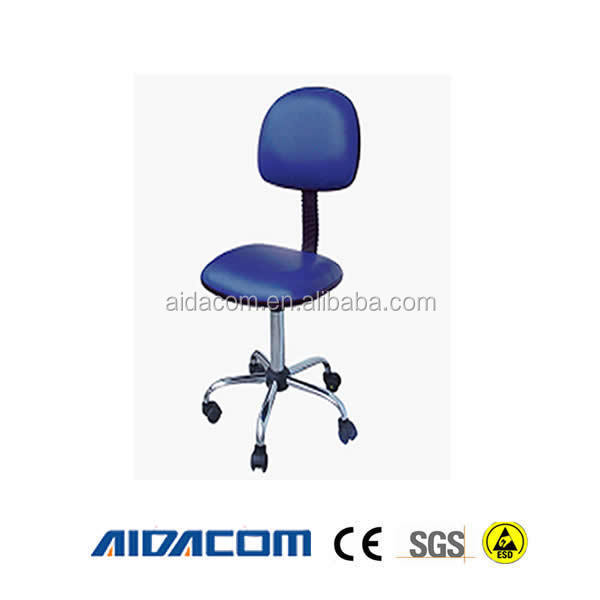 Black/Blue Cleanroom antistatic esd chair footrest ring