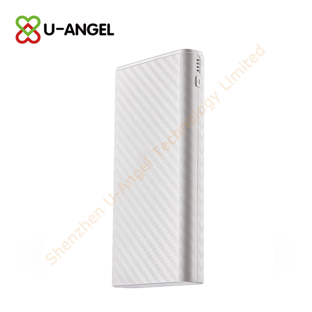 Real capacity high quality surface with lines 20000mAh USB portable power bank