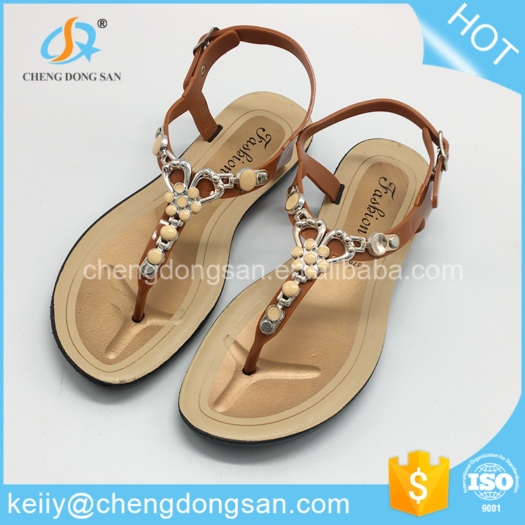 Italian fashion shoes summer ladies 2016 womans flat sandals