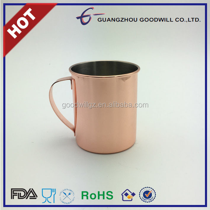 14oz FDA SAFE Stainless steel moscow mule copper Mug