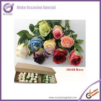 #18448 Wedding decor high quality silk roses artificial rose flowers